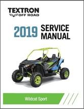 2019 Textron Off Road (Arctic Cat) Wildcat Sport Service Manual CD - $12.00