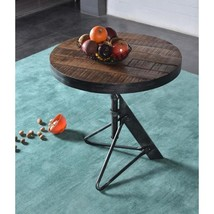 Braden Natural and Restoration Adjustable Round Accent Table - $410.76