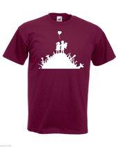 Mens T-Shirt Banksy Street Art Graffiti, Warfare Children Playground Shirt - $24.74