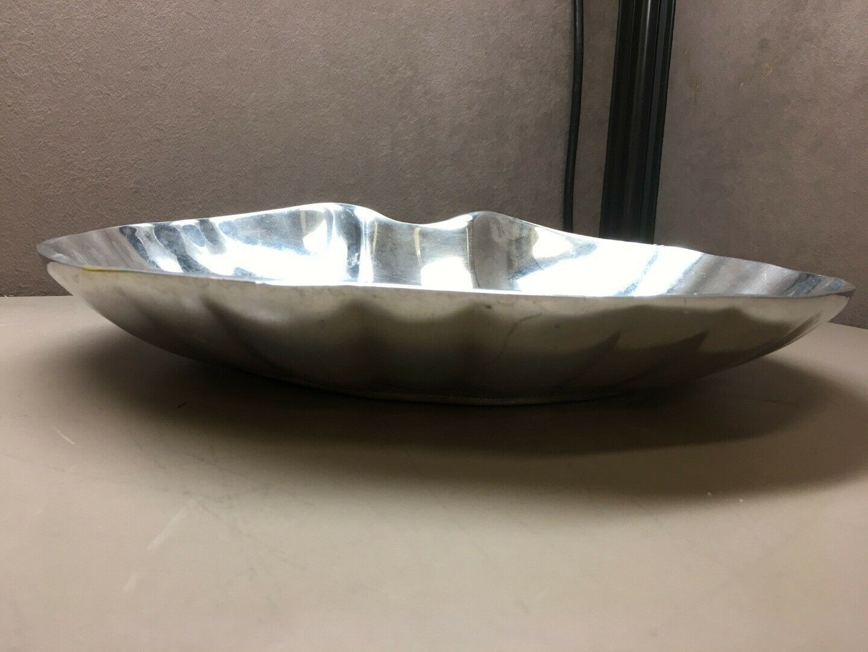 Large Armetale Serving Centerpiece Clam Shaped Bowl image 2