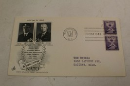 first day cover honoring nato - $18.00