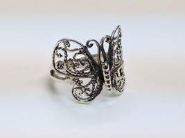 Filigree Butterfly Fashion Ring in Silver, Size 6.5 - $20.00