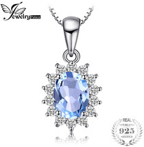 JewelryPalace Princess Diana William Kate 2.3ct Natural Blue Topaz Halo ... - $23.25