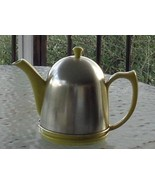 Antique Hall Canary Yellow Lipton Teapot & Lid with Metal Cosy - VGC - RARE - $118.79