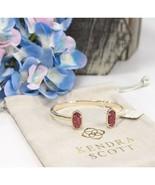 Kendra Scott Elton Raspberry Drusy Bangle Cuff Bracelet NWT - $78.71