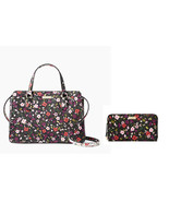 Kate Spade Reese satchel Laurel Way Boho Floral + Neda Wallet Set  - $162.36