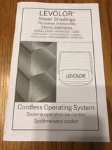 Levolor Sheer Shadings Cordless Operating System Instructions Only Ships... - $7.82