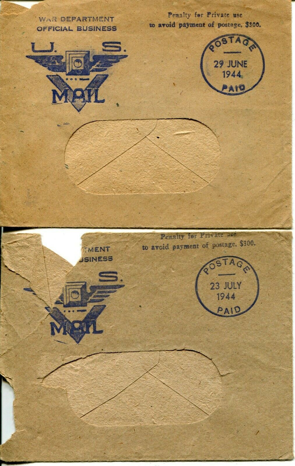 WWII USA Cover V-mail Postage Ration Book Stamps Army Military Collection image 9
