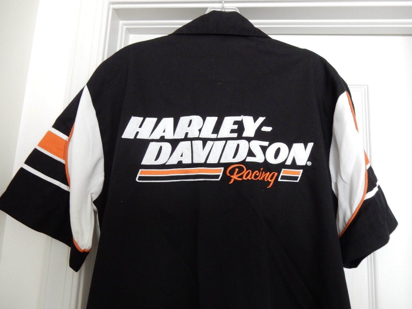 Harley-Davidson Racing Screamin' Eagle Garage Shirt Top S/S Cotton Blend Size M image 4