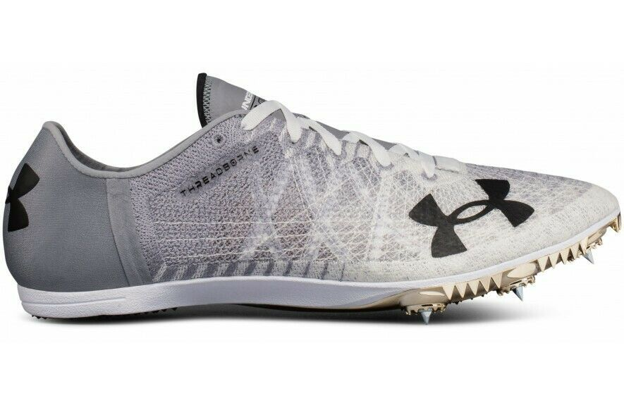 Primary image for NEW Under Armour Men's SpeedForm Miler 2 Size 12 Gray Track Shoe Sneaker Cleats