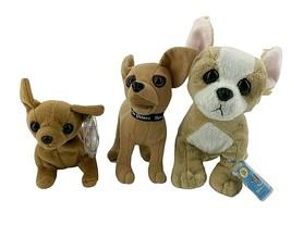 Chihuahua Plush Dogs Lot Webkinz Tag Code Talking Taco Bell Beanie Baby ... - $16.38
