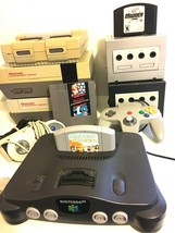 LOT of 6 Nintendo Consoles - For Parts / UNTESTED N64 Super Nintendo, Gamecube  - $199.99