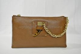 NWT! Michael Kors James Large Leather Clutch / Shoulder Bag in Caramel Brown - $189.00