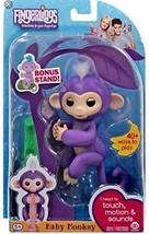 WowWee Fingerlings Baby Monkey - Mia - Purple ( Includes Bonus Stand) - $18.61