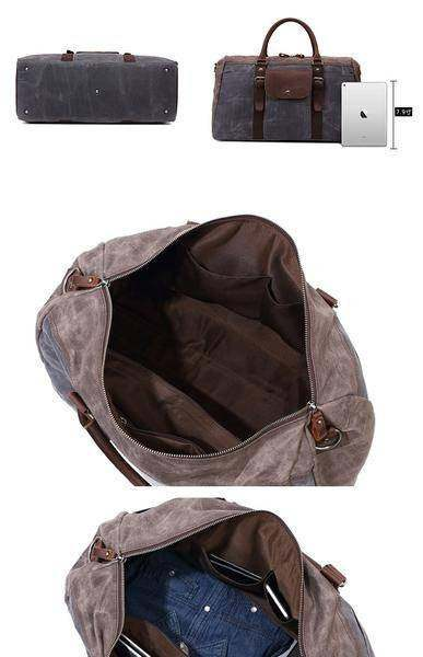 Sale, Military Duffel Bag ,Travel Bag, Canvas with Leather Duffel Bag, Men's Tra image 4