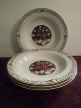 4 Susan Winget Over The Housetops Soup Bowl International China Christma... - $46.74