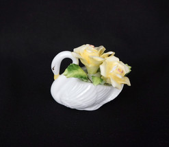 Lefton Royal Dover Swan Fine China Floral Handpainted - $17.56