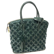 AUTHENTIC LOUIS VUITTON Monogram Fascination Lockit Tote Bag Green Ename... - £1,392.36 GBP