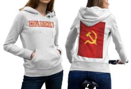 CCCP Soviet Union Russian White Cotton Hoodie For Women - $29.99+