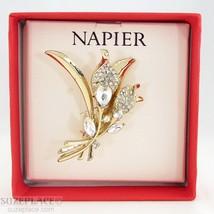 N API Er Calla Lily Brooch Pin Crystal Rhinestone New In Gift Box - $19.95