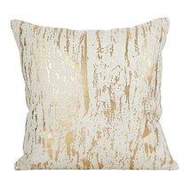 Fennco Styles Distressed Metallic Foil Design Cotton Down Filled Throw P... - $41.57