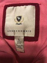 Abercrombie Girl's Pink 3/4 Sleeve Polo Shirt - Size: Large image 4