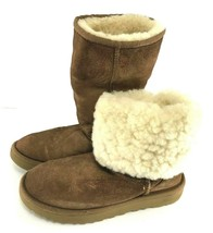 UGG Australia Womens Classic BOOTS 1016224 sz 5 Chestnut Brown Leather S... - $44.55
