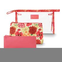 Non Metal Coral Miss Cherie 3 Pc Cosmetic Bag Set (Length=9.65) (Width=2... - $21.42