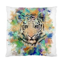 Pillow case Throw Pillow Cushion Case Tiger 3 wild animal green blue by L.Dumas - $24.99+