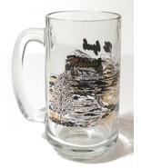 "Missouri The Ozarks Log Cabin Lake Scene 5.5"" Collectible Mug Glass - $16.15"