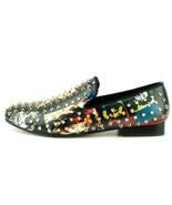 Men's Fiesso Bob Marley Print Gold Spikes Slip On Smoking Shoes  FI 7338 - $149.99