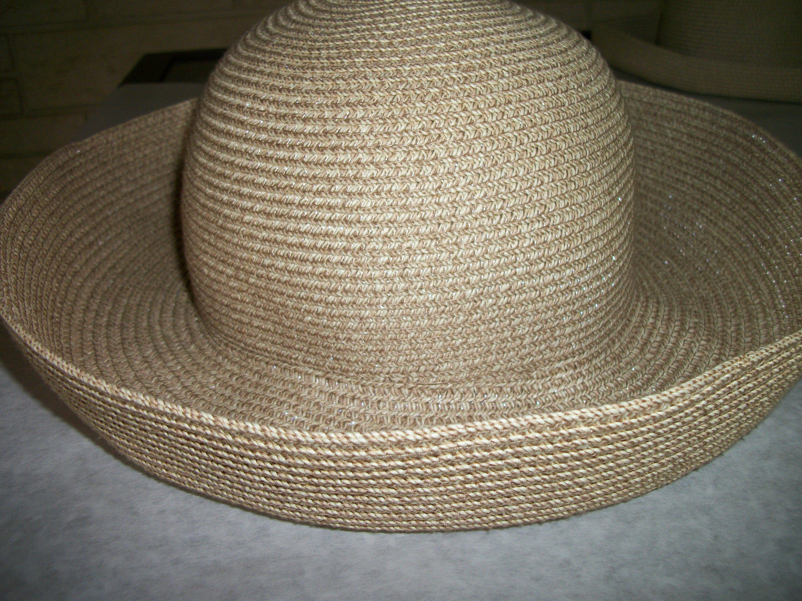 45e4beedcec8a ... BETMAR Women s Wide Brimmed Straw Sun Hat packable w RINK BOW ...
