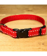 Saddle Stitch Red Grosgrain Adjustable Cat Collar from MontanaDog / Made... - $22.00