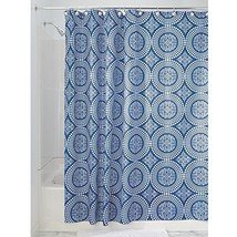 InterDesign Medallion Fabric Shower Curtain, Water-Repellent Bath Liner ... - $9.96
