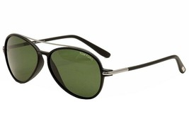 Tom Ford Ramone TF0149 02N Matte Black Aviator Sunglasses Green Lens 58mm - $138.59
