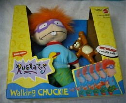 "Mattel RUGRATS Walking CHUCKIE Doll 8"" 1998 VINTAGE NICKELODEON Box NEW ... - $23.71"