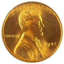 1944 1C Lincoln Wheat Cent Graded by NGC as MS66 Red! Gorgeous Penny! - $34.64