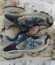 Asics Gel Enduro Womens Running Shoes Sz 9 M Grey blue Sneakers - $28.97