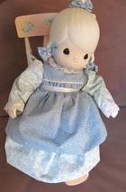 "Precious Moments Doll w Chair Rocker ""Mother Sew Dear"" Jonathan & David ... - $139.94"