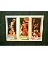 1980/81 Topps Basketball #6 Julius Erving/Larry Bird/Magic Johnson (RC) ... - $4.00