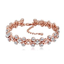 Luxury Crystal From SWAROVSKI Bracelets Rose Gold Color Pulseras For Wom... - $20.00
