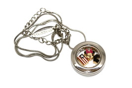 Bracciale Disney Round Locket Necklace Floating Minnie American Floating Charms - $24.74