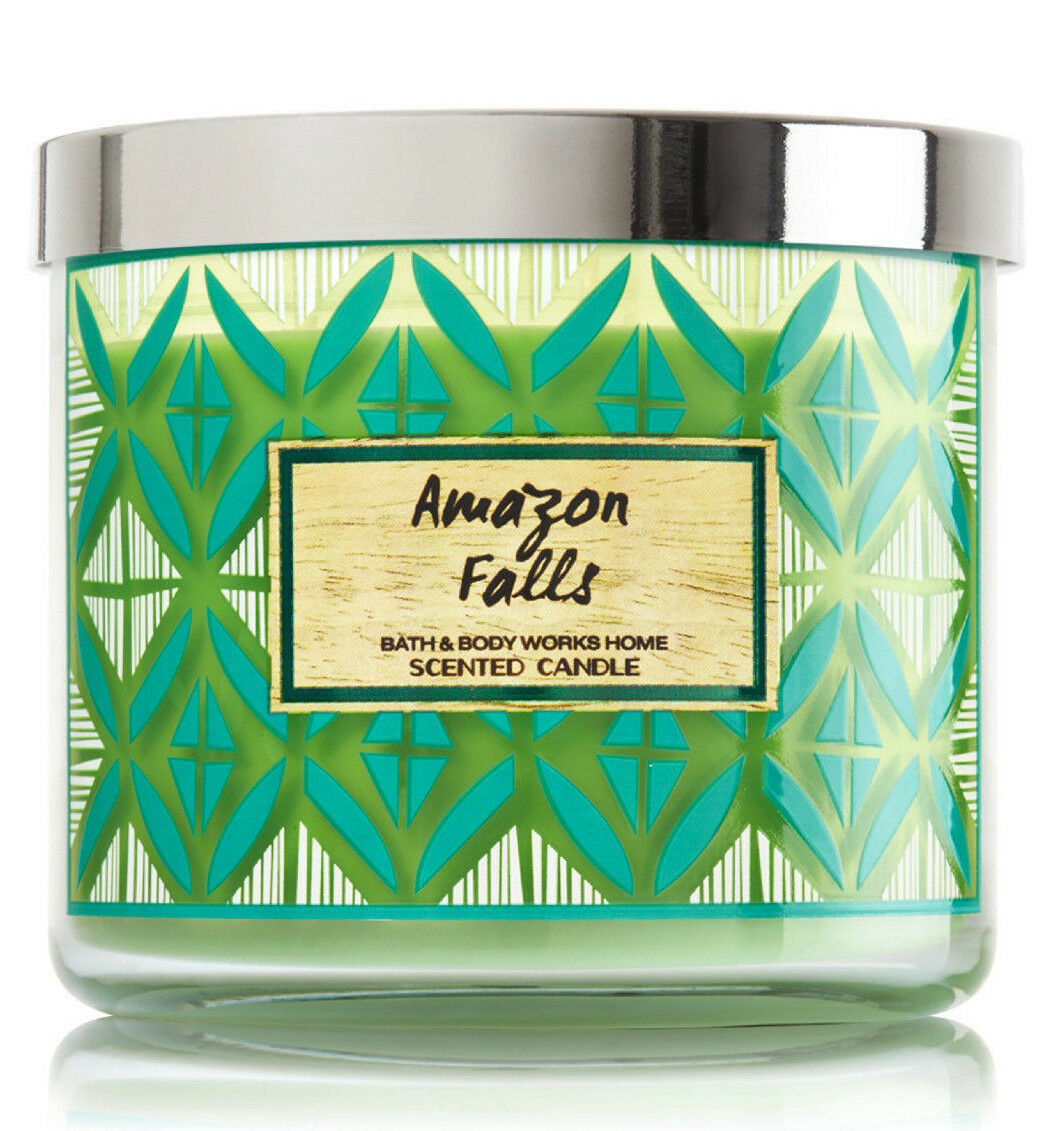 Bath & Body Works Amazon Falls Three Wick 14.5 Ounces Scented Candle image 2