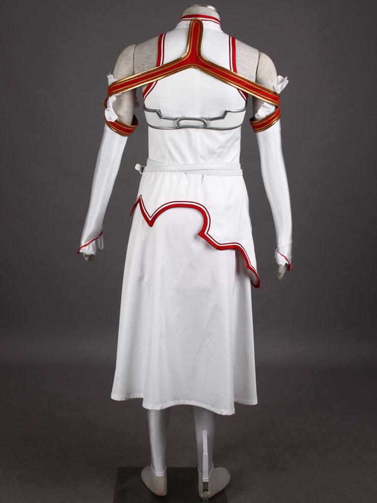 Sword Art Online Asuna Halloween Cosplay Costume Outfit Gown Dress
