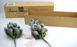Homco Home Interiors Grape Clusters Fruit Accents  Sprays Set of 2 NIB New - $12.86