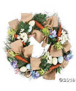 Fun Express Vintage Easter Wreath with Burlap Bow - $53.74