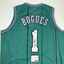 Autographed/Signed MUGGSY BOGUES Charlotte Teal Basketball Jersey PSA/DN... - €84,63 EUR
