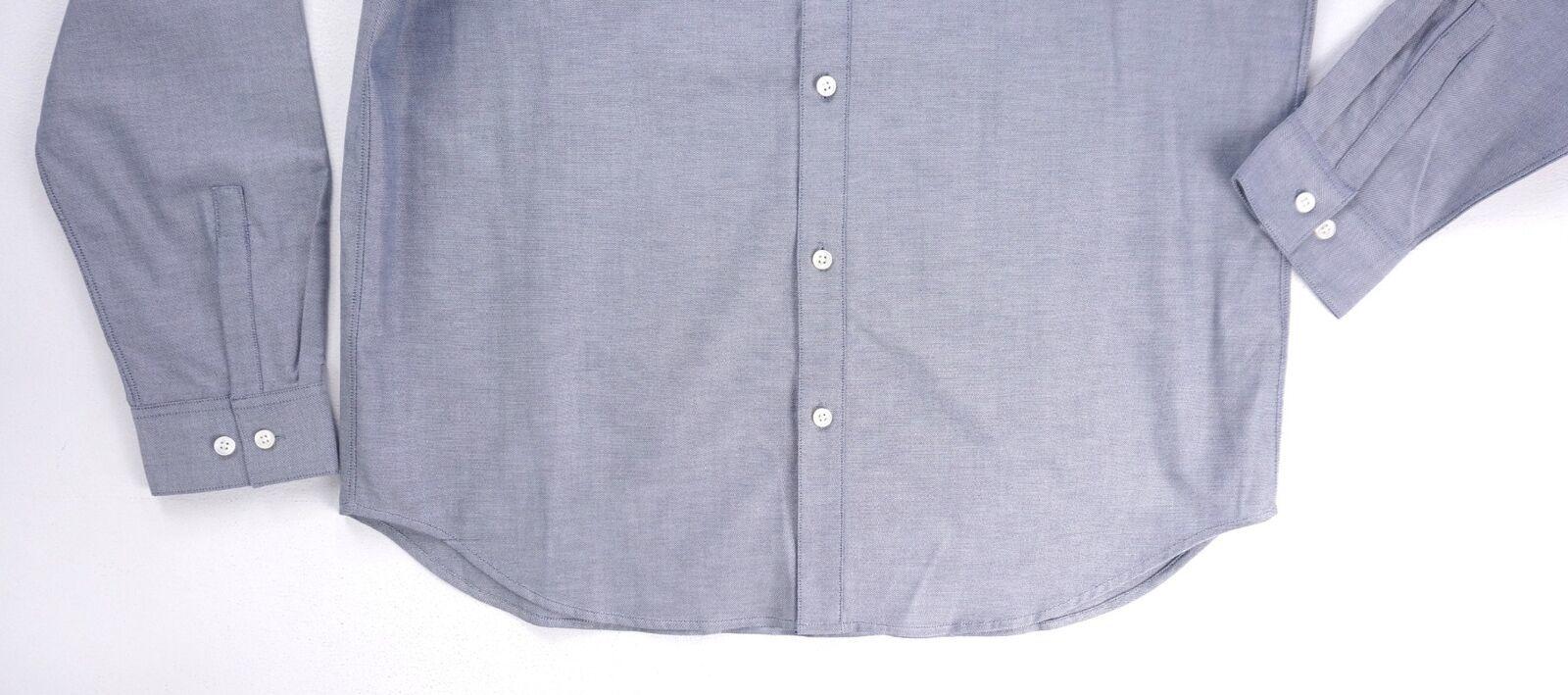 Neu $225 Theory Blau Finch Perpetual Oxford Edward Geknöpftes Hemd Größe XL