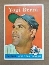 1958 Topps #370 Yogi Berra Baseball Card VG+/VG++ New York Yankees RF1 - $59.99