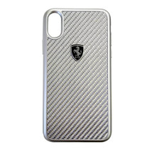 Ferrari Heritage Real Carbon Hard Case For iPhone X  Silver or Black Fre... - $50.87